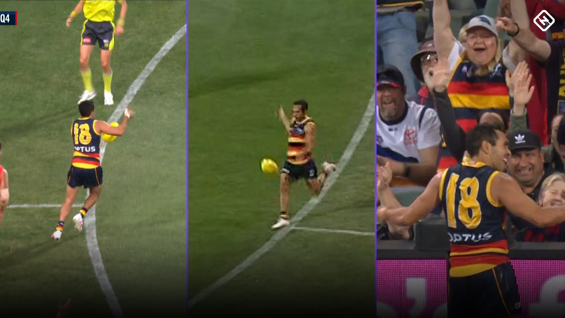 Eddie Betts delivers a magical goal in 300th game masterclass