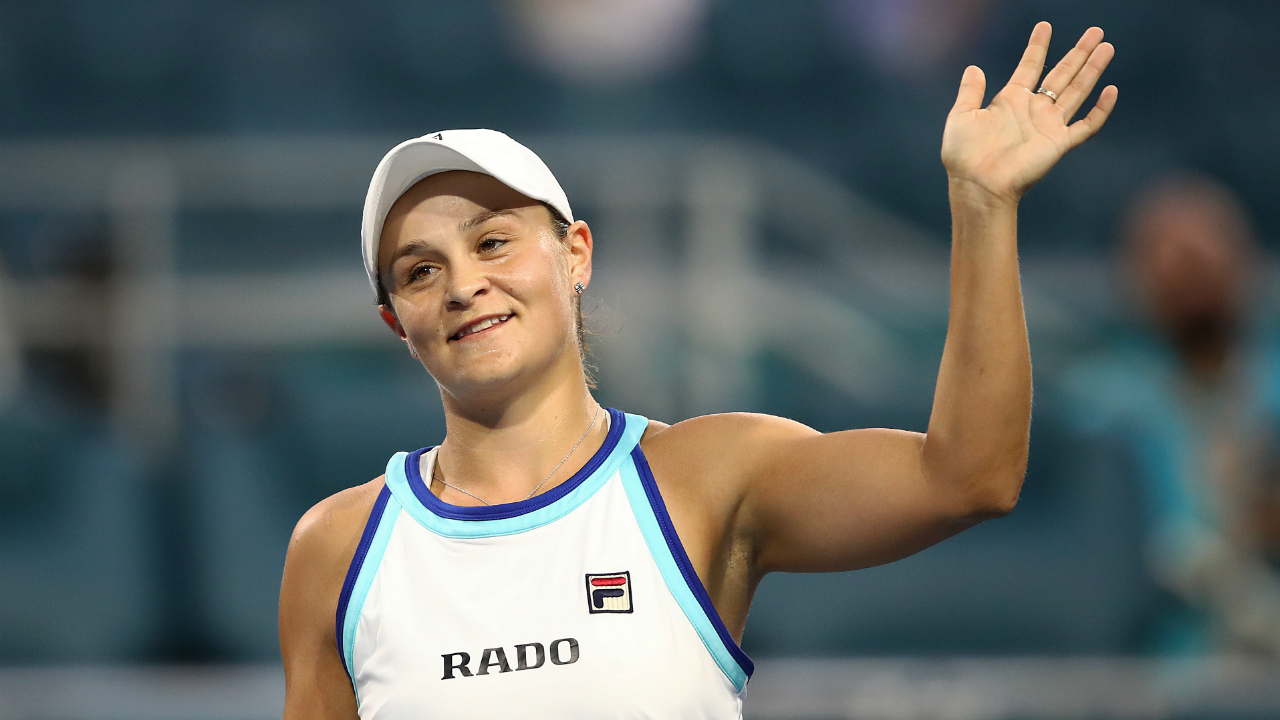 Ash Barty rises to eighth in the WTA rankings