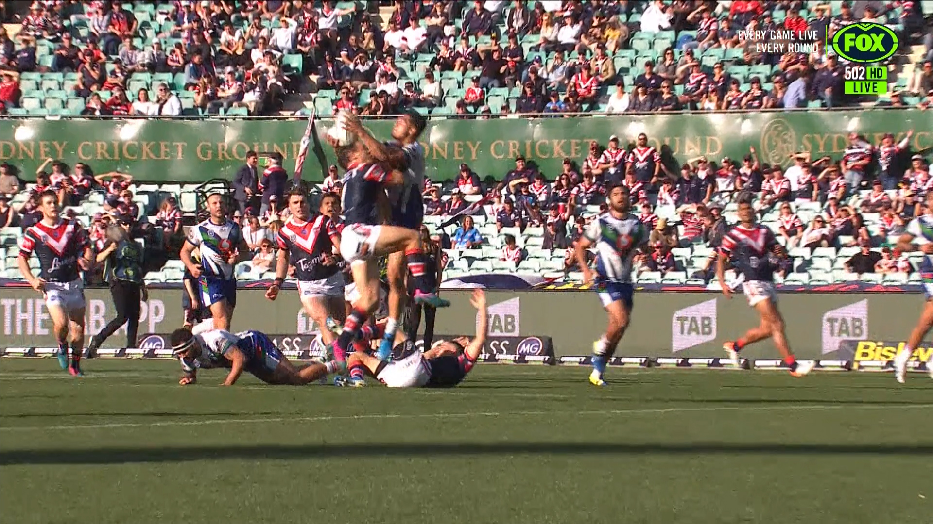 Roosters v Warriors: Cooper Cronk falcon provides stunning try assist