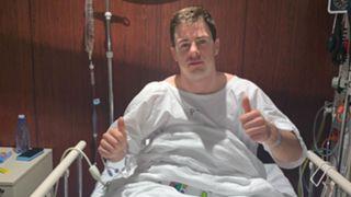 Jack Higgins in hospital