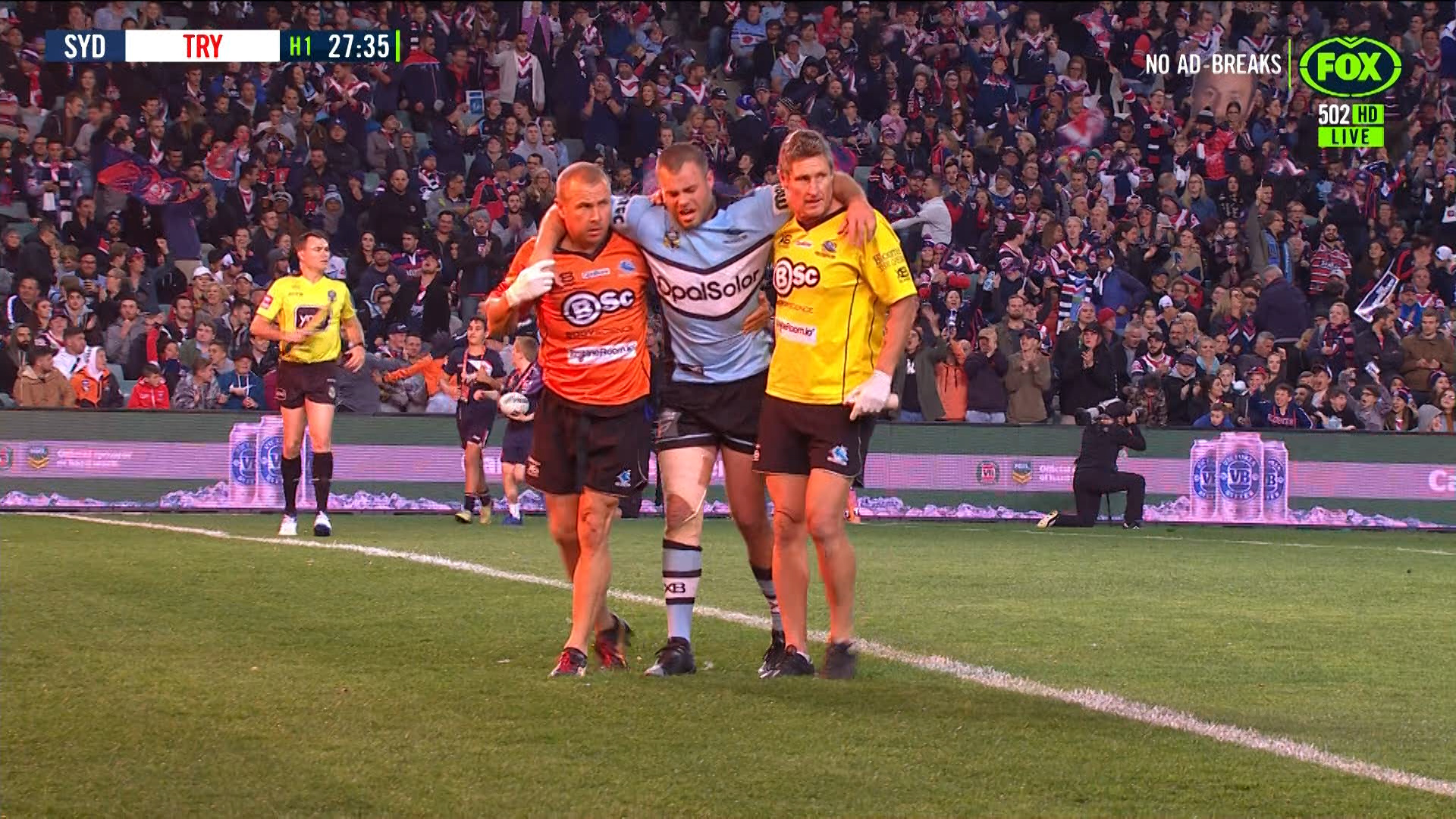Sydney Roosters v Cronulla Sharks: Wade Graham leaves field with suspected ACL injury | Sporting ...