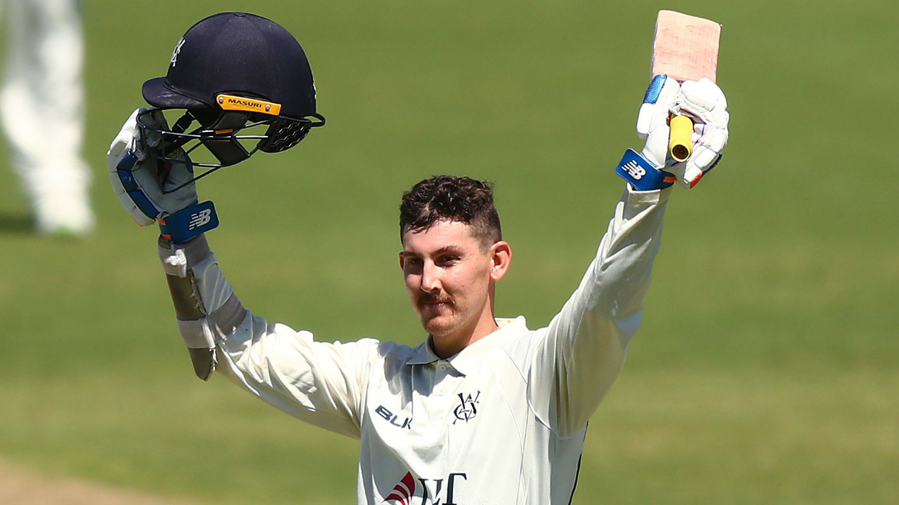 Sheffield Shield: Nic Maddinson creates rare history with third consecutive century for Victoria