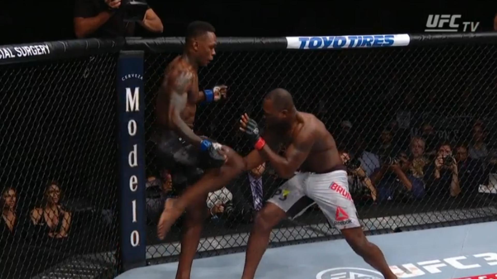 UFC 230 Israel Adesanya knocks out Derek Brunson in another