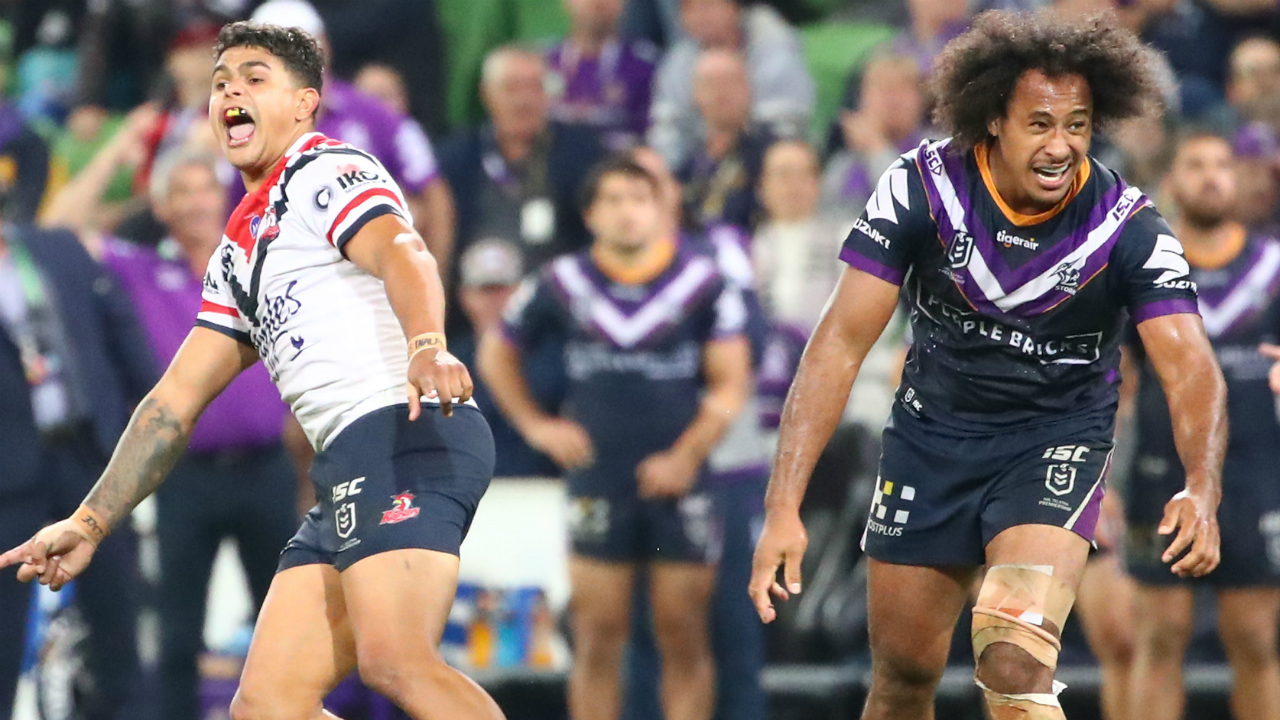 Storm v Roosters: Booming Latrell Mitchell field goal wins ...
