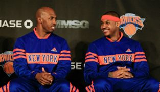 Carmelo Anthony and Chauncy Billups