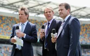 (500px)  Channel Nine commentators Mark Nicholas, Shane Warne and Mark Taylor