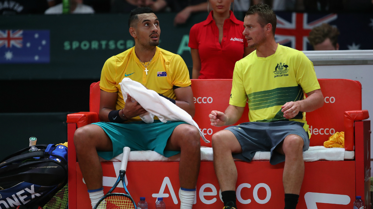 Lleyton Hewitt opens up on relationship with Nick Kyrgios following his return from two-year Davis Cup exile