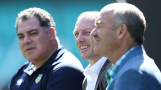 Mal Meninga, Darren Lockyer and Wally Lewis