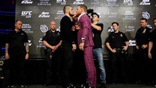 Conor McGregor and Khabib Nurmagomedov size each other up