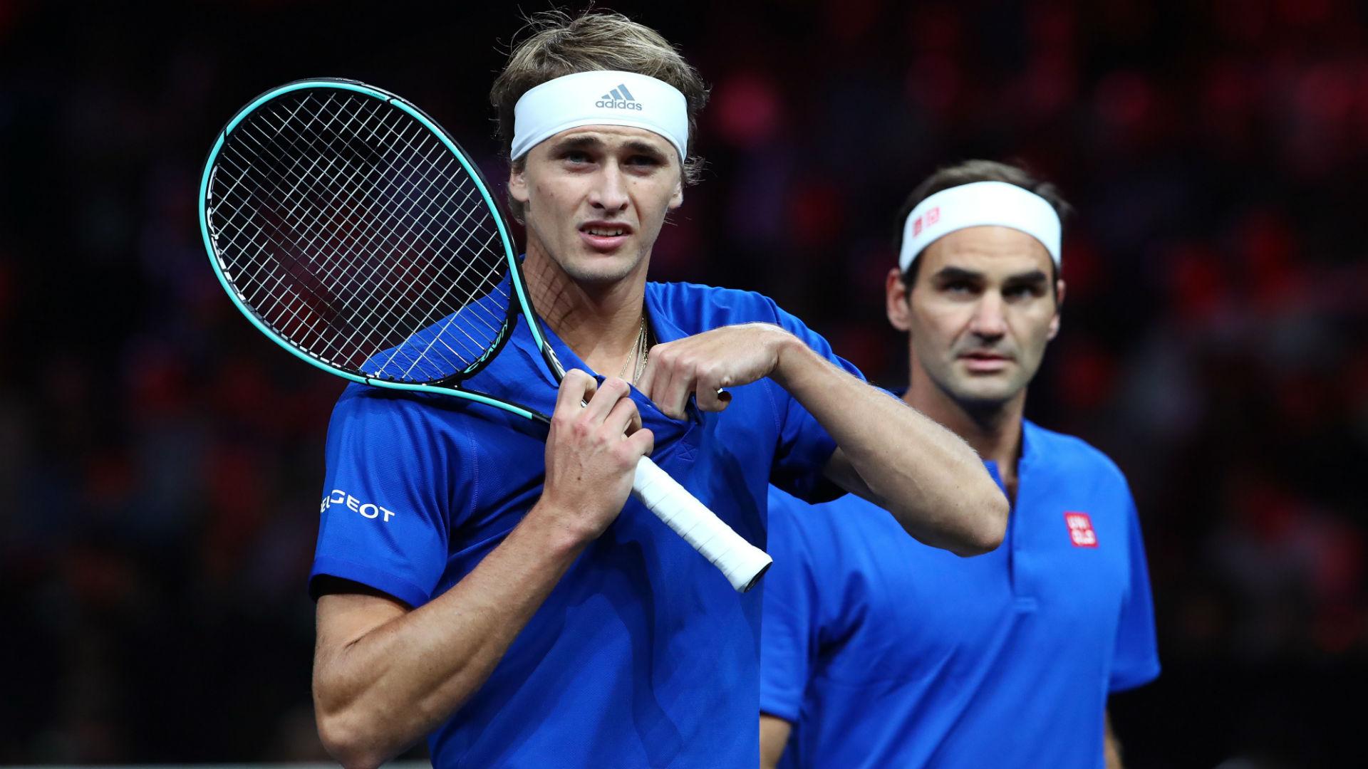 Laver Cup: Roger Federer gives expletive-laden pep talk to Alexander Zverev during Milos Raonic decider