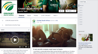 Cricket South Africa FB