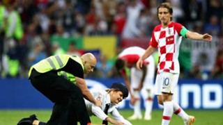 World Cup pitch invasion