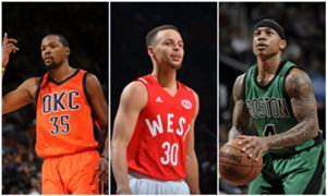 Kevin Durant Stephen Curry Isaiah Thomas