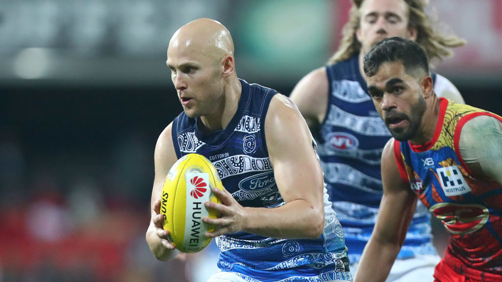 Gary Ablett under scrutiny for 'clumsy' strike in Geelong-Gold Coast clash
