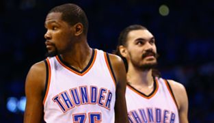 Kevin Durant and Steven Adams