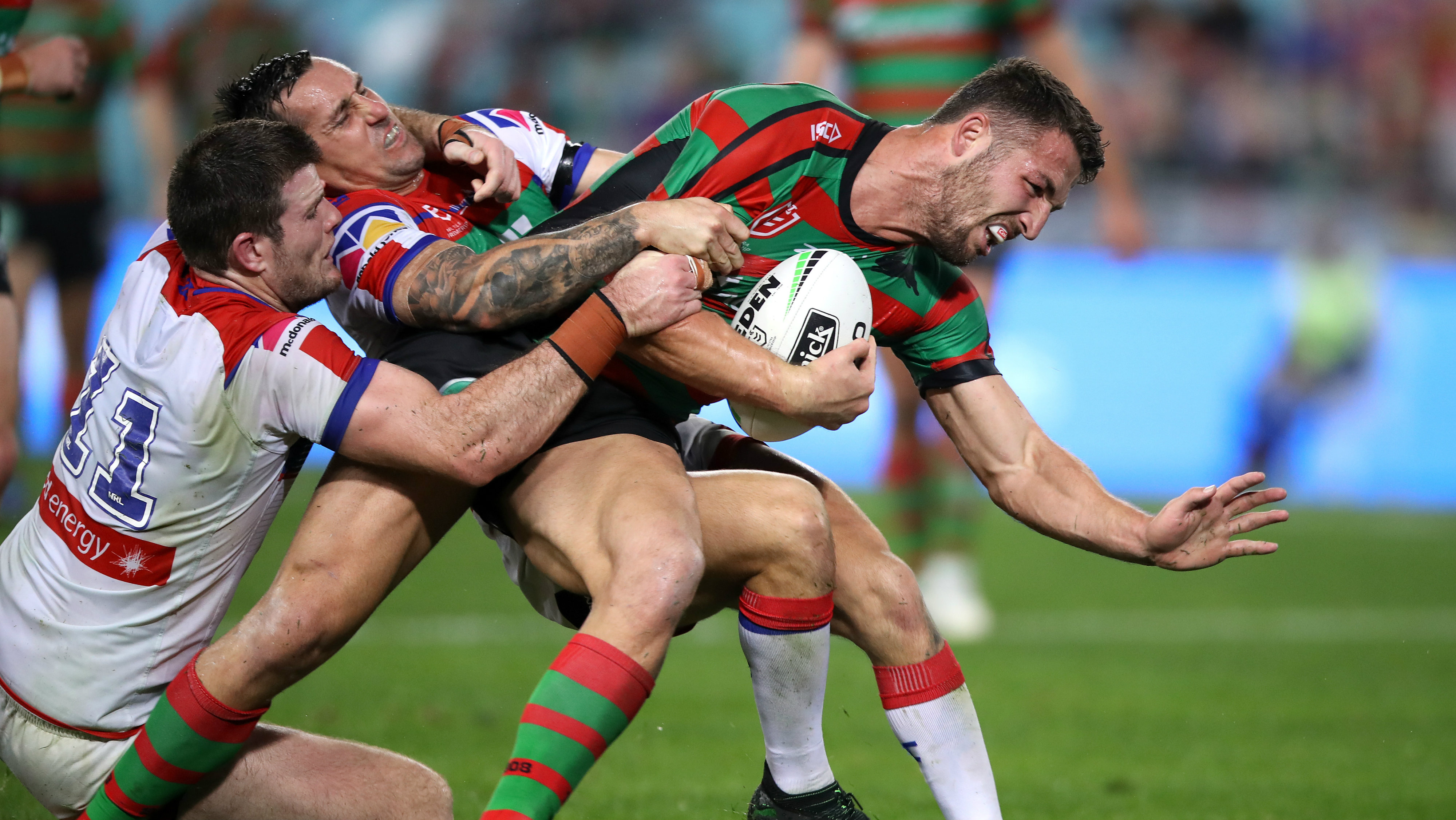 South Sydney Rabbitohs star Sam Burgess out indefinitely after post-surgery complications