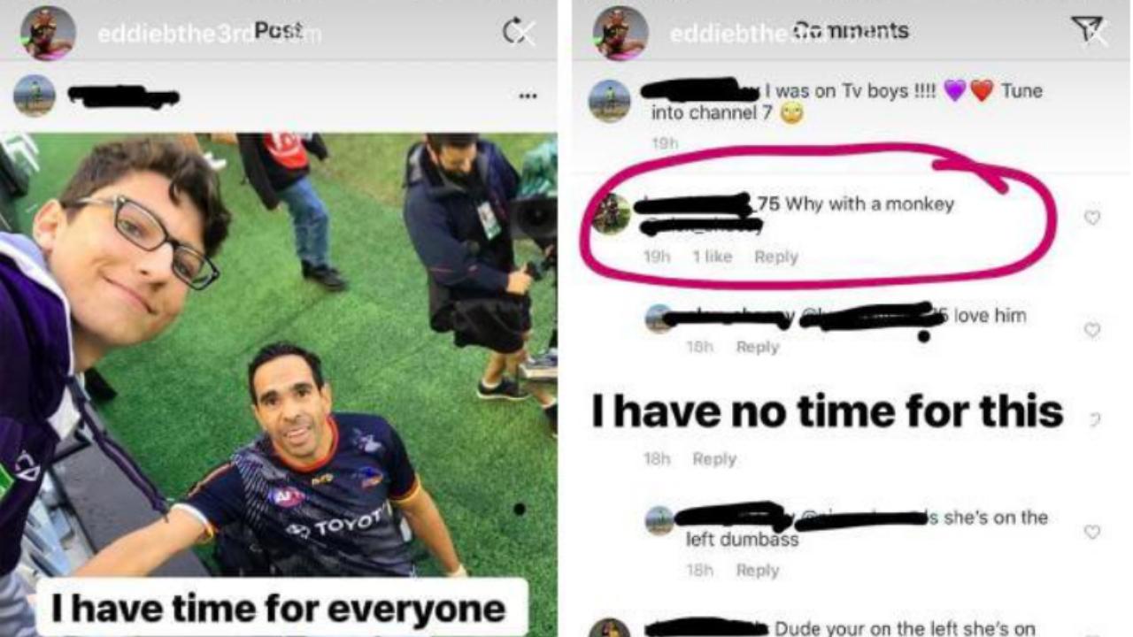 #Eddie Betts racist instagram