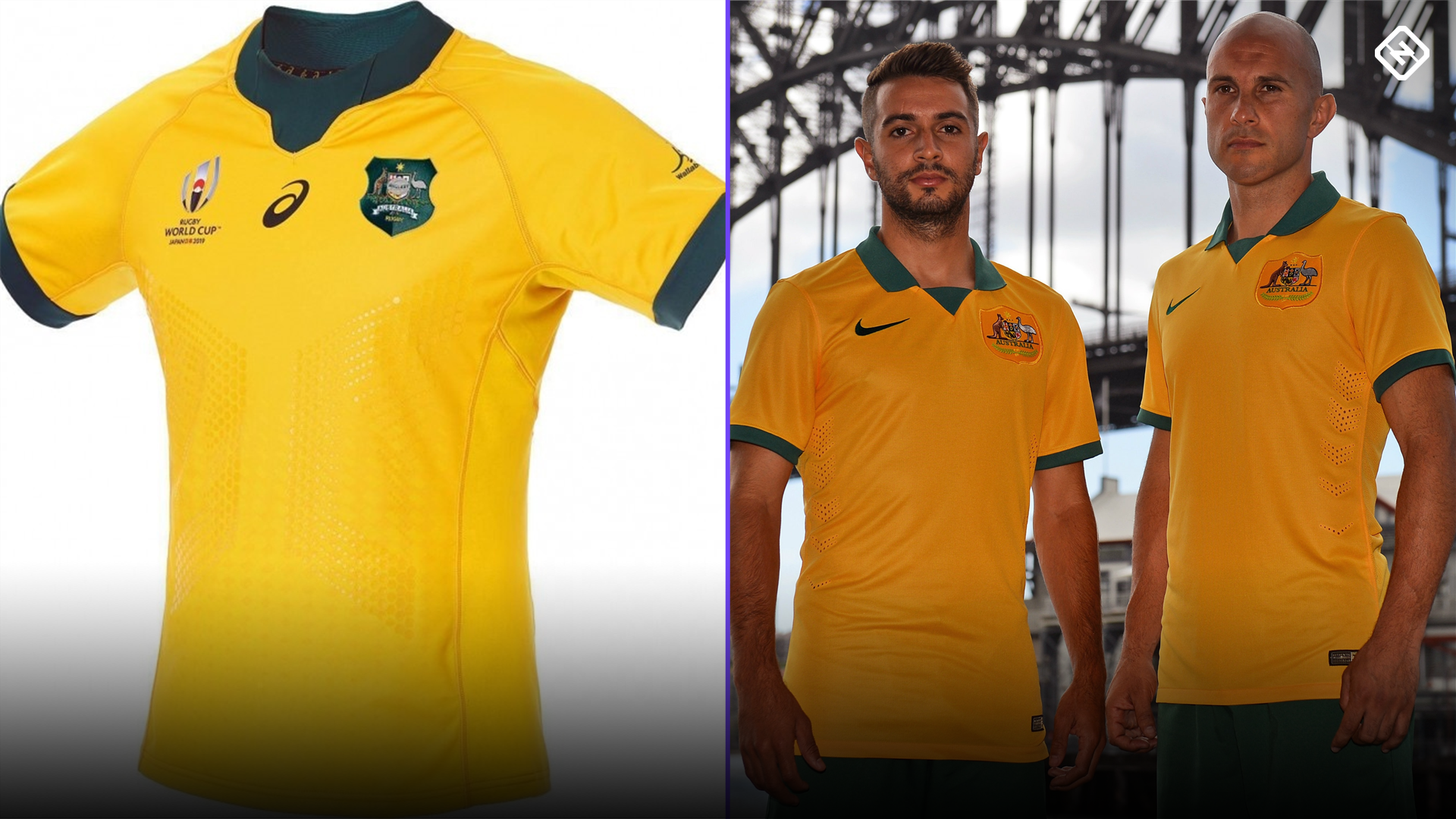 876aac16c Wallabies reveal World Cup jersey remarkably similar to Socceroos  kit