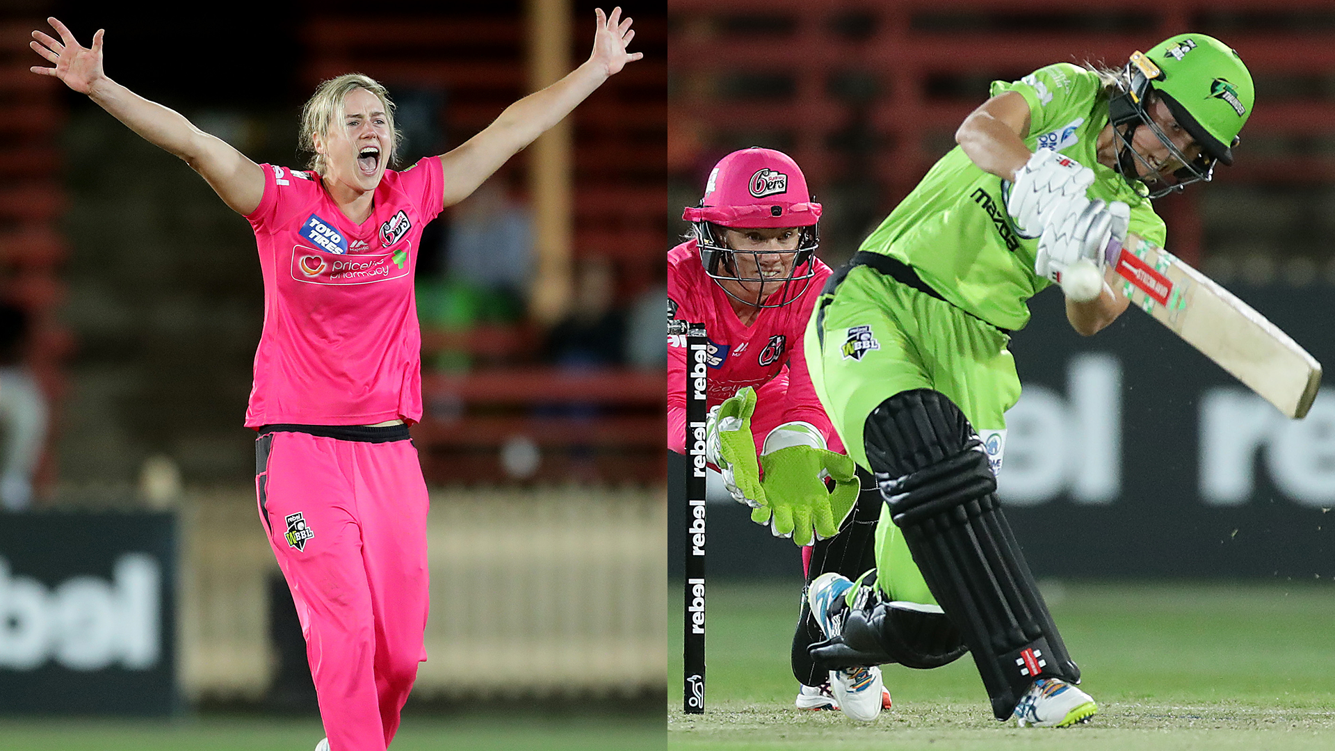 WBBL05: Perry leads Sixers to win over Thunder but almost upstaged by 16-year-old Phoebe Litchfield
