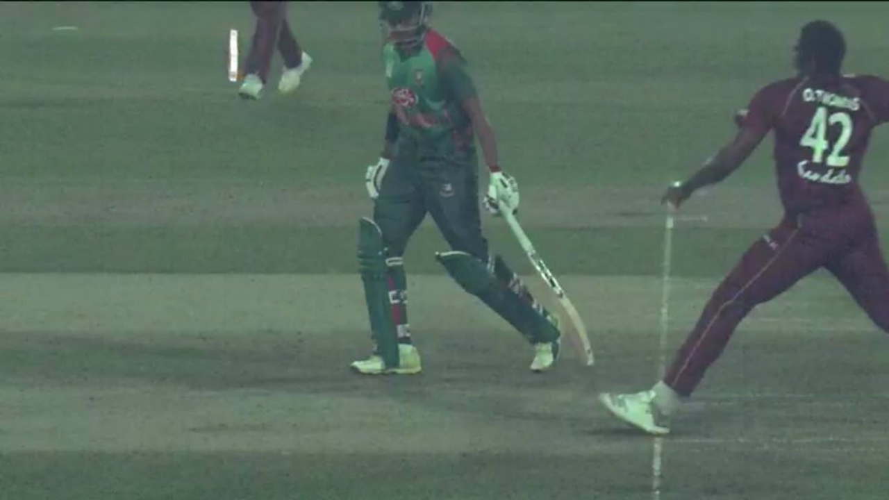 West Indies wins T20 series v Bangladesh after no-ball doubt