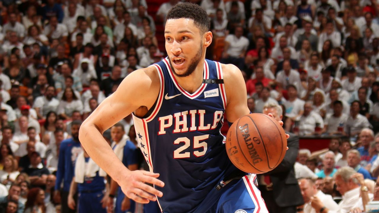 4692c26c3 Ben Simmons records first playoff triple-double in win over Heat as 76ers  take 3-1 lead