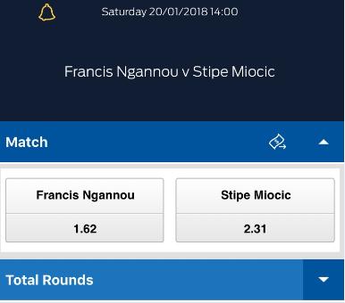 # Ngannou betting