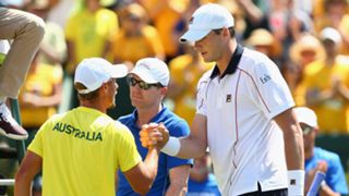 Lleyton Hewitt and John Isner