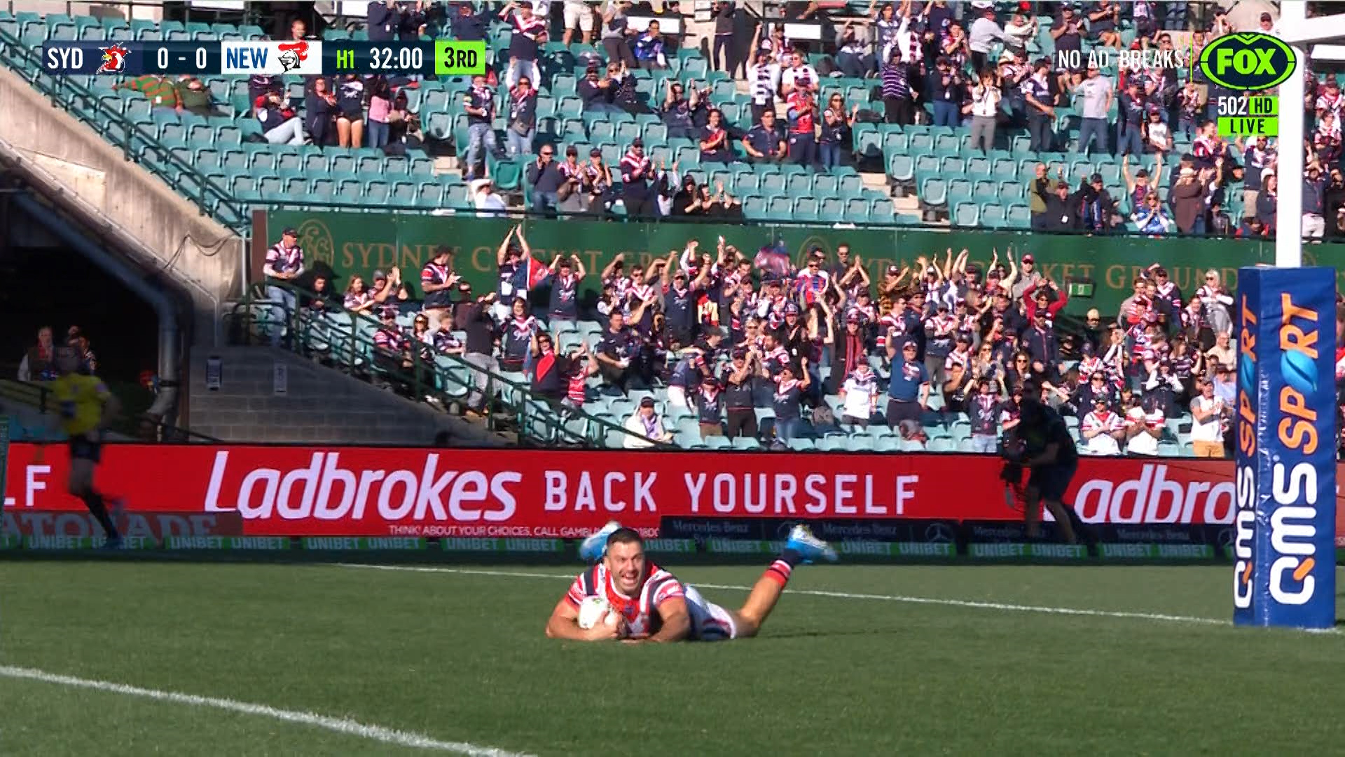 Roosters vs Knights: James Tedesco caps off incredible try of the year candidate