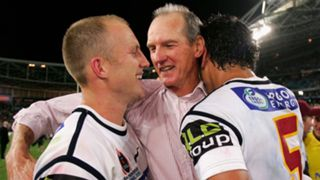 Darren Lockyer and Wayne Bennett