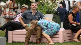 Sleeping racegoer Melbourne Cup