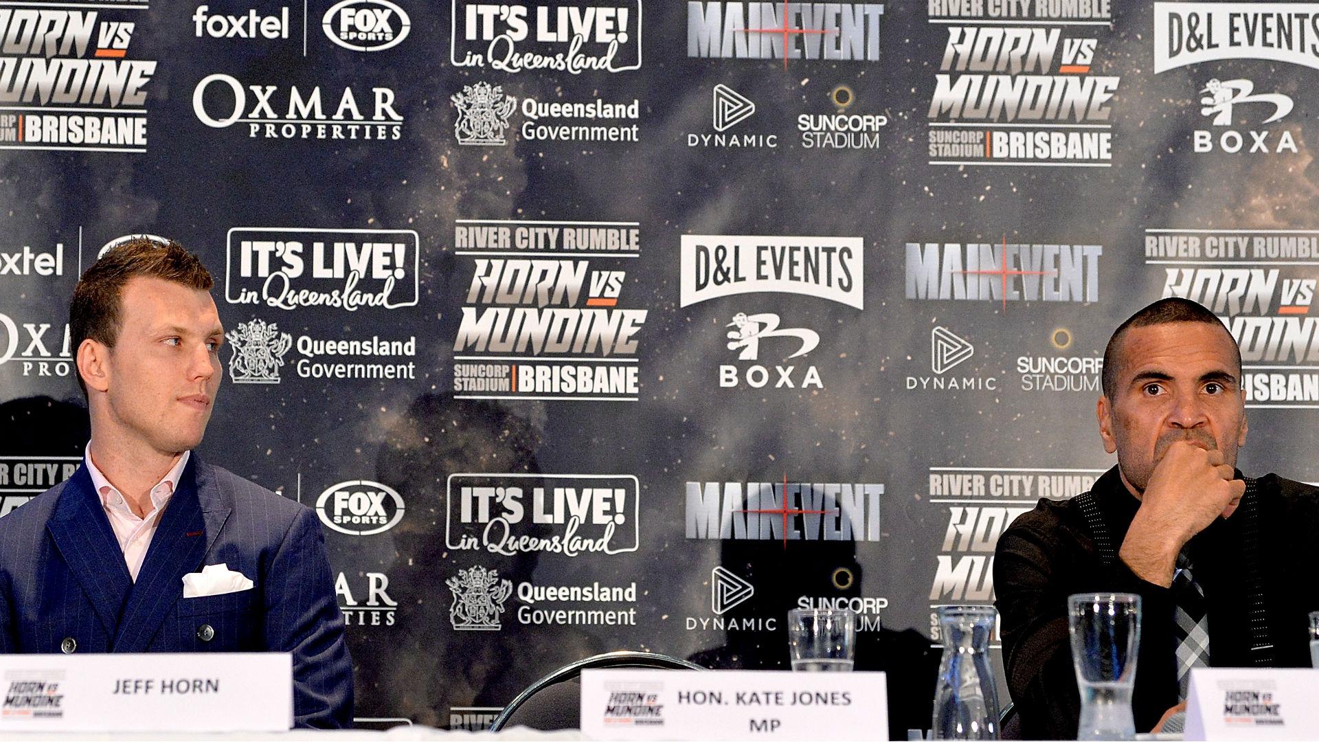 Jeff Horn vs Anthony Mundine: Team Horn responds to Mundine's national anthem protest