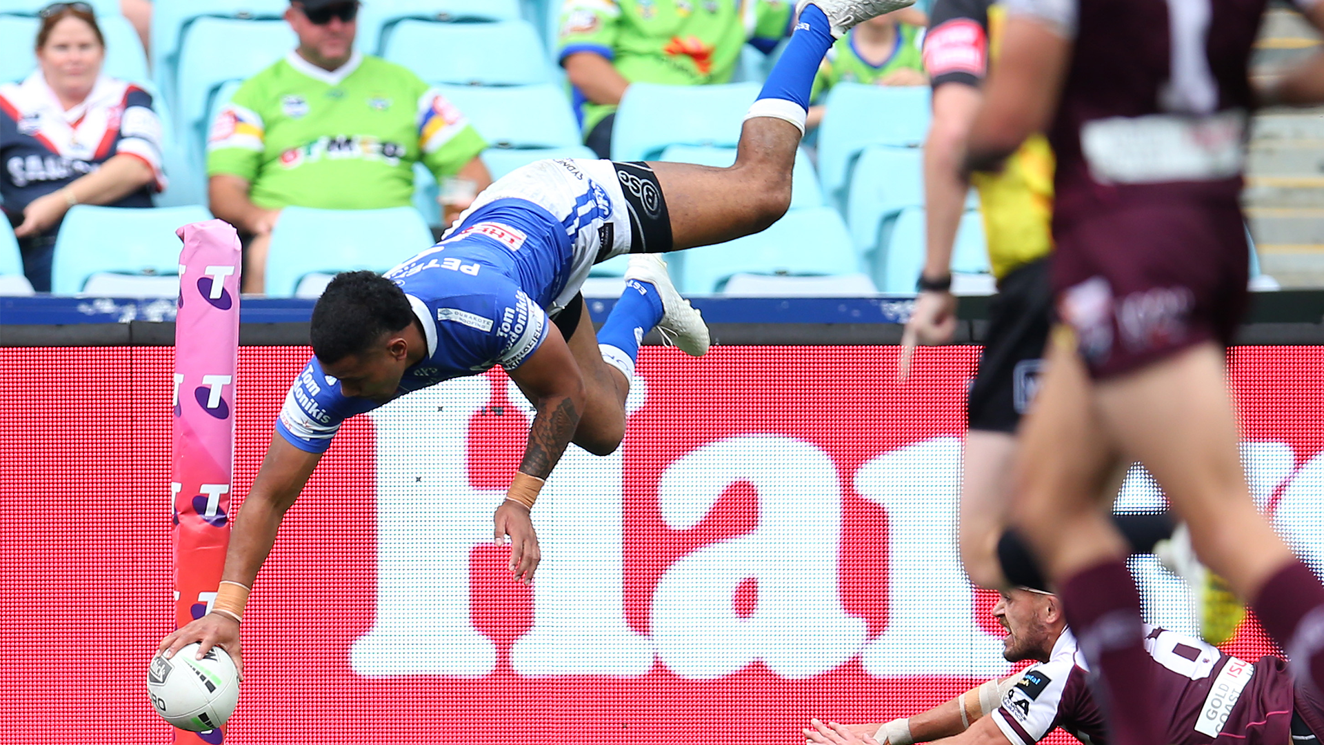 Sione Katoa on the 'instinct' behind his acrobatic finishes