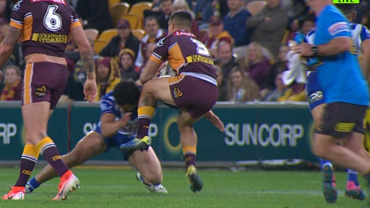 Broncos v Bulldogs: Kotoni Staggs placed on report for raised knee