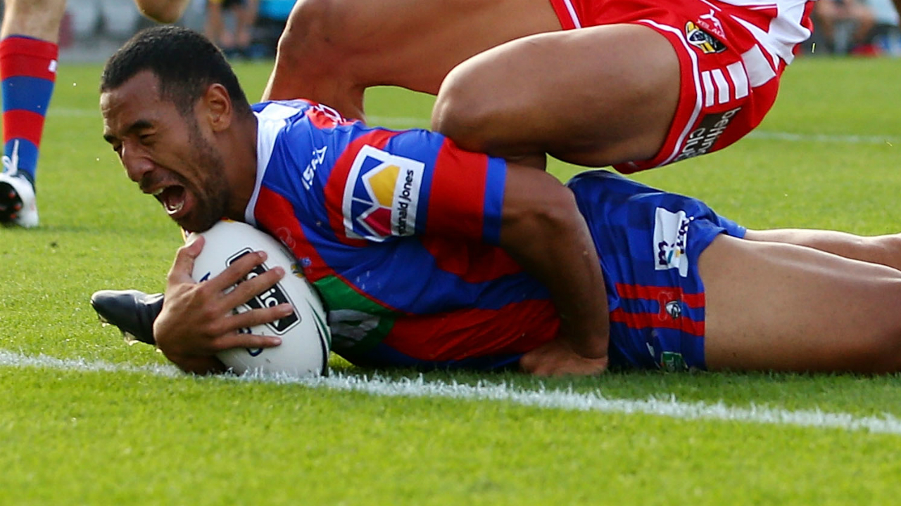 Newcastle Knights centre Tautau Moga hit with two match suspension after pleading guilty to assault
