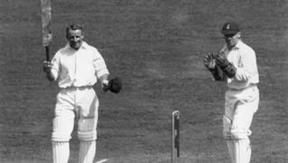 Don Bradman scores 309 runs in the third Test of the 1930 Ashes series at Headingley.