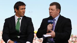 Andrew Johns and Phil Gould