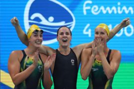 Cate and Bronte Campbell, Emma McKeon and Brittany Elmslie
