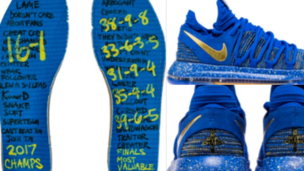 Kevin Durant has a message for his haters in his new shoes ... bdb2a983f