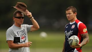 Todd Carney and Brian Smith at the Roosters in 2010