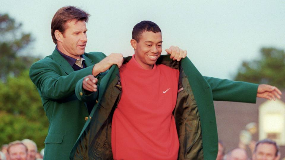 Tiger Woods' past wins at the Masters
