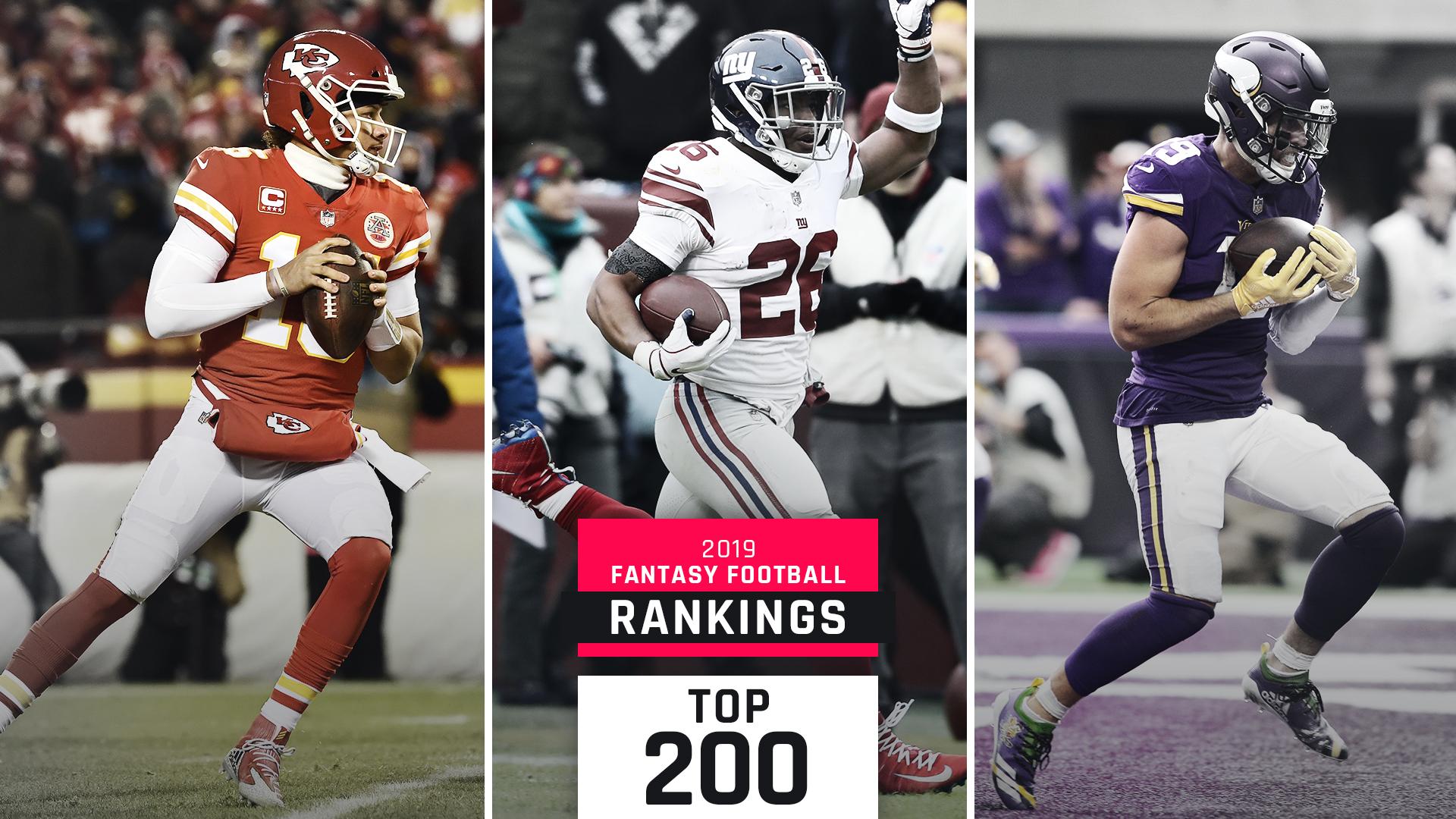 Updated 2019 Fantasy Football Rankings: Top 200 Cheat Sheet
