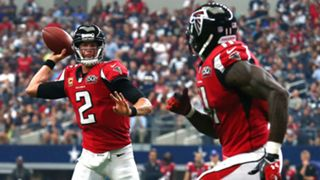 Matt Ryan - Julio Jones - 120415 - Getty - FTR