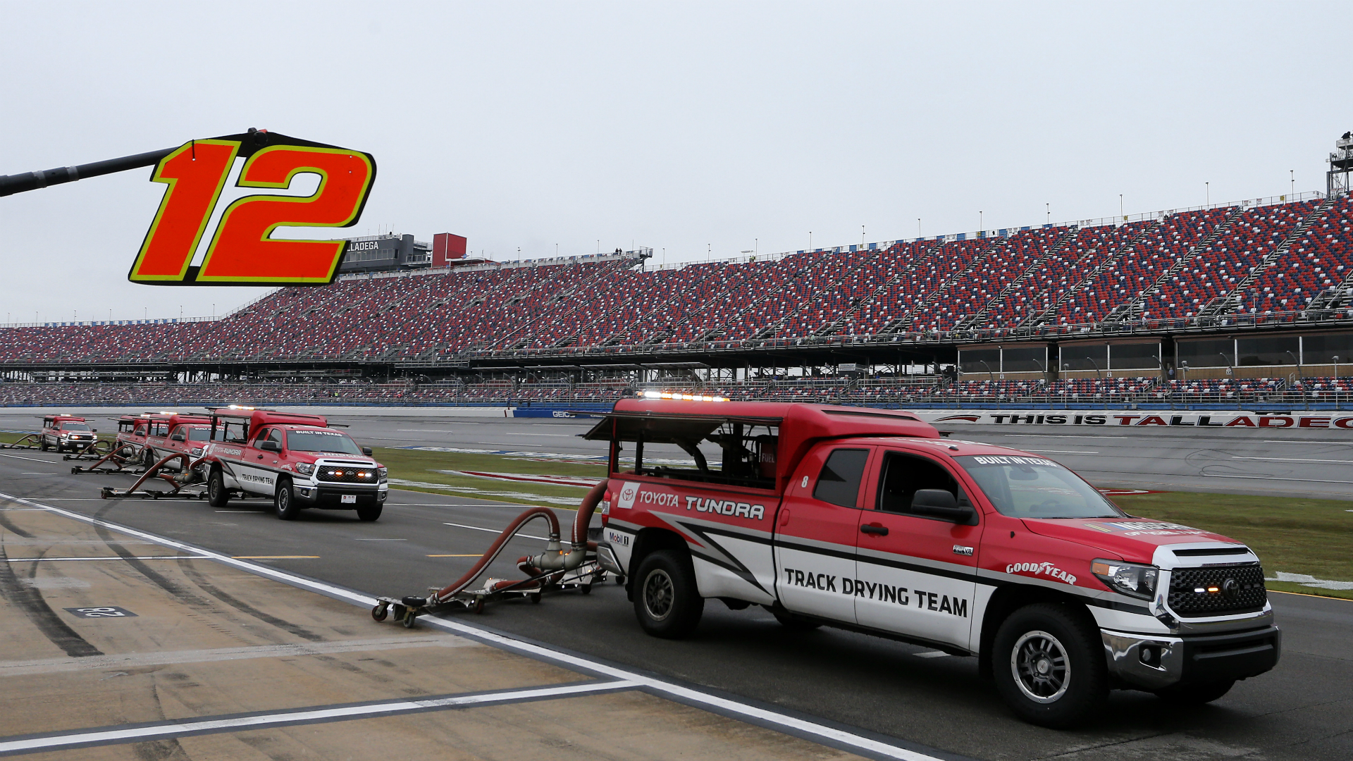 NASCAR weather update: Race at Talladega to restart Monday after rain delay