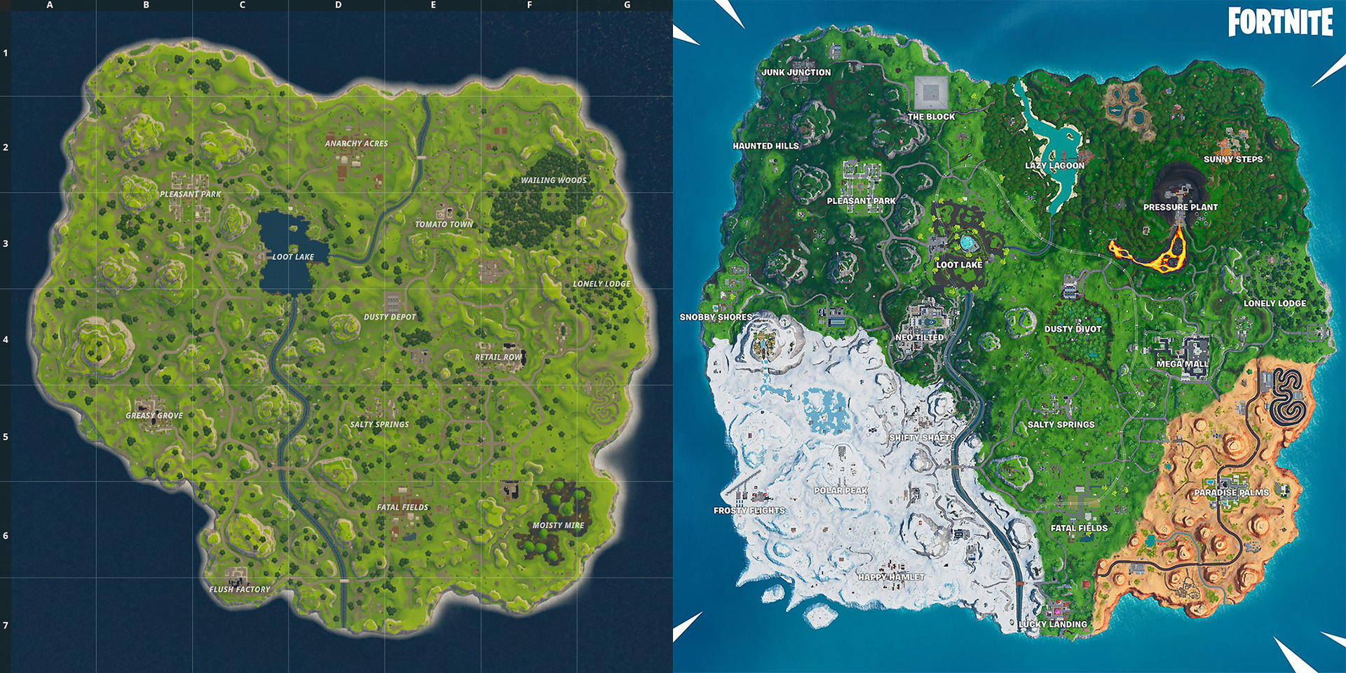 photograph relating to Printable Fortnite Map identified as Contemporary Year 9 Fortnite Map