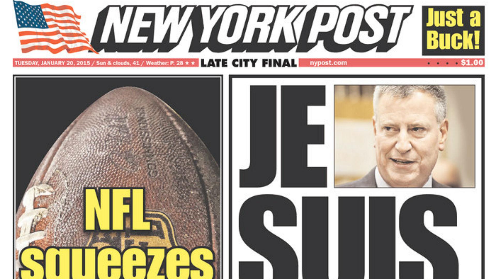 Deflate Gate inspires New York Post's headline pun