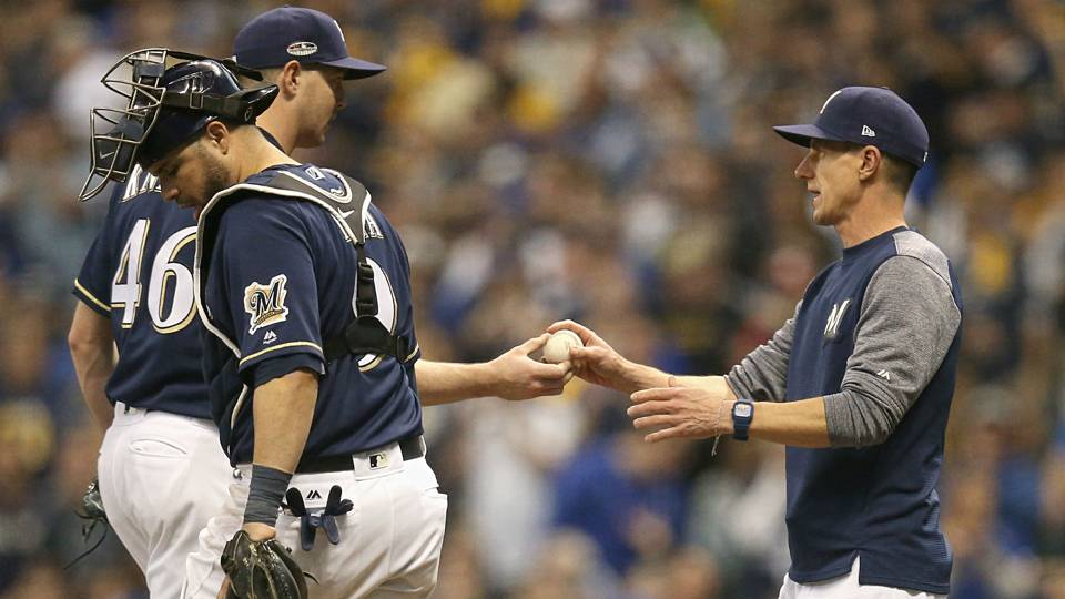 Bullpen-game victory in NLDS Game 1 another out-of-the-box success for Brewers