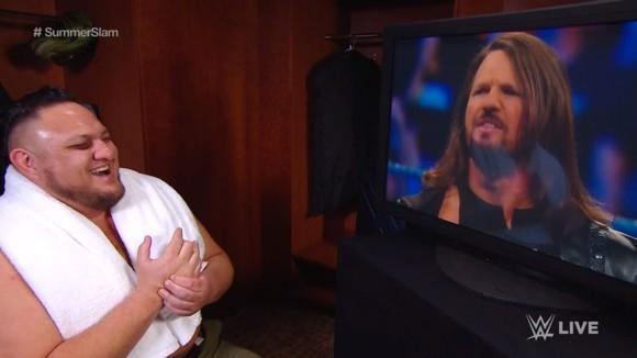 WWE スマックダウン #990 AJスタイルズ サモア・ジョー