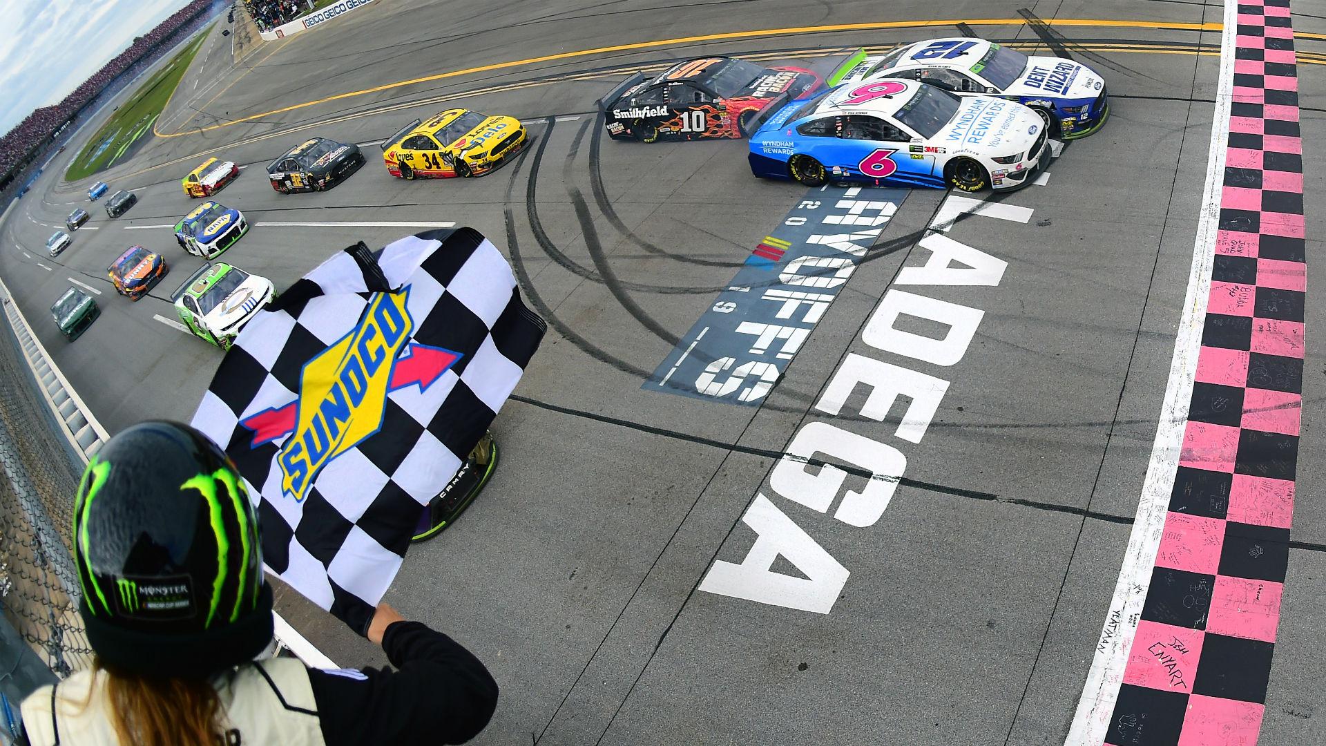 NASCAR at Talladega results: Ryan Blaney wins after massive crash sets up photo finish