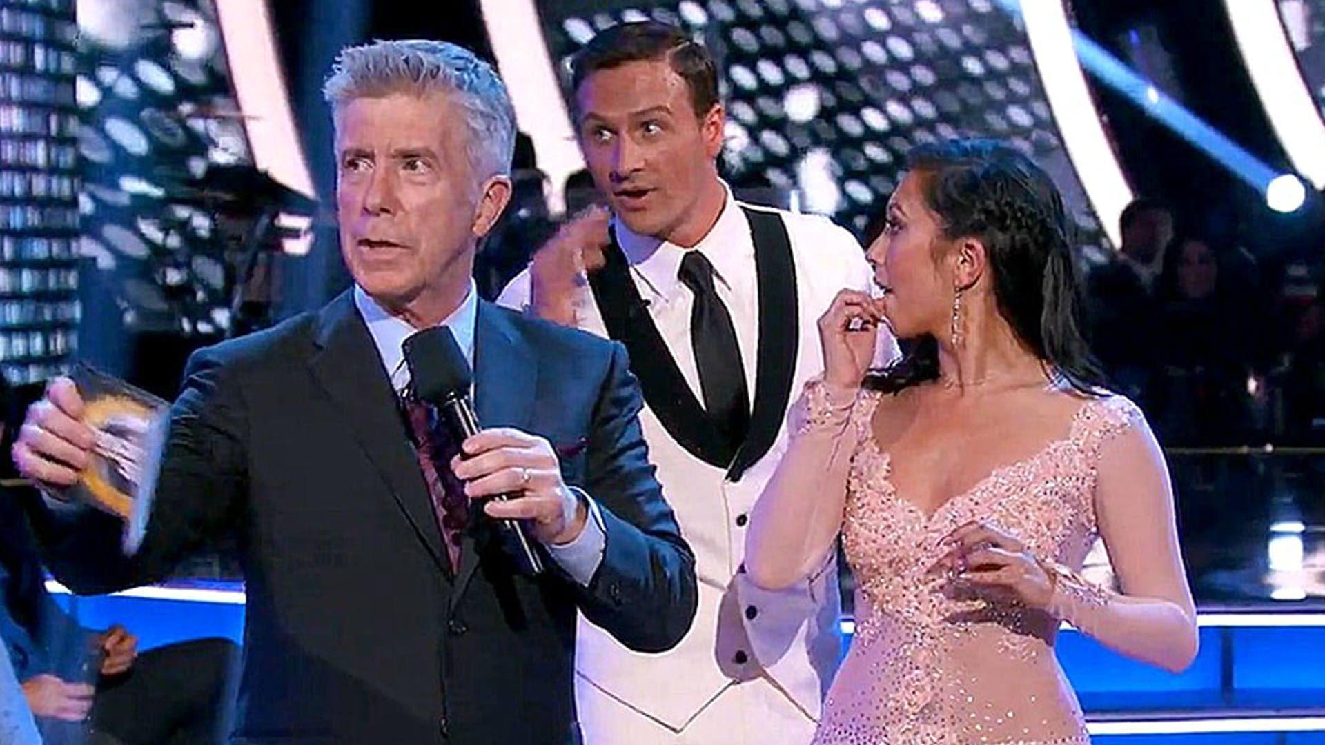 Protesters rush Ryan Lochte during 'Dancing With the Stars' performance