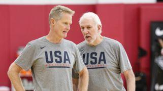 Steve Kerr Gregg Popovich 2019 USA Basketball Men's National Team Training Camp